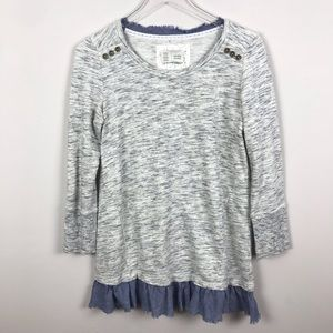 ANTHROPOLOGIE | Saturday Sunday Gray Tunic Top